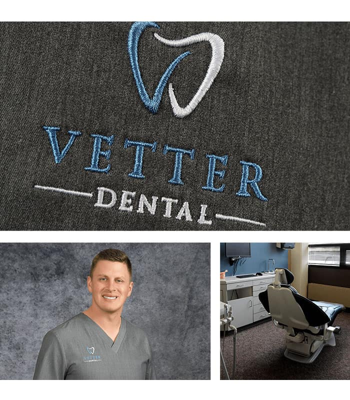 A photo collage of the dentist office near you